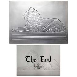 MGM Lion light up title plate in framed display.