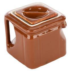 The Brown Derby rare vintage single-serve square tea pot.