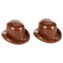 The Brown Derby ceramic salt and pepper shakers.