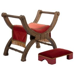 The Sign of the Cross Chair and Footstool.