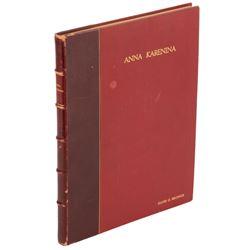 David O. Selznick personal book bound presentation script for Anna Karenina.