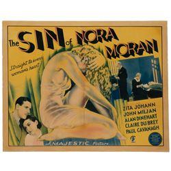 The Sin of Nora Moran half-sheet poster.