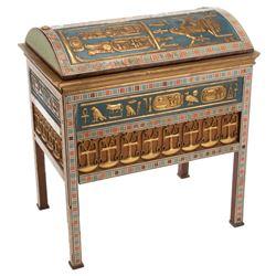 Egyptian-style jewelry box set piece from Cleopatra.
