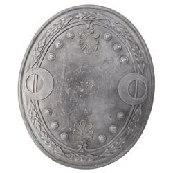 Cleopatra silver shield and short sword.