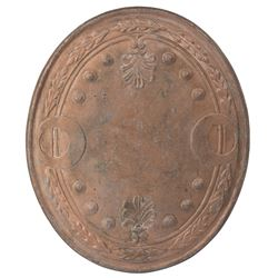 Cleopatra copper shield and chariot spear includes a Roman standard from unidentified production.