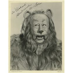 """Bert Lahr """"Cowardly Lion"""" signed photo from The Wizard of Oz."""