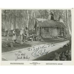 """Ray Bolger """"Scarecrow"""" and Jack Haley """"Tin Man"""" signed photograph from The Wizard of Oz."""