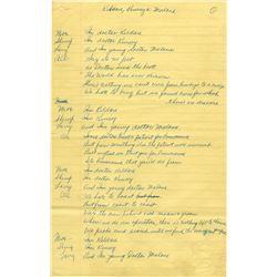 Moe Howard's handwritten skit with Shemp and Larry.