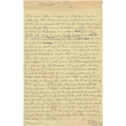 MoeHoward's(70+) page handwrittenmanuscriptfor his Autobiography Moe Howard & the Three Stooges.