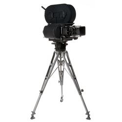 Mitchell reflexed BNC #118 35mm movie camera with lens & tripod.