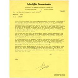 """Archive regarding use of the word """"Damn"""" in Gone With the Wind including David O. Selznick letter."""