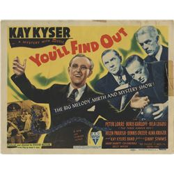 Kay Kyser (8) lobby cards for You'll Find Out.