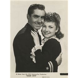 Anne Baxter collection of (7) photographs including 2-with Tyrone Power from Crash Dive.