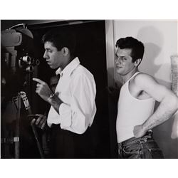 Jerry Lewis and Tony Curtis oversize behind the scenes photograph by Sterling Smith.