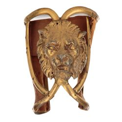 """Henry Wilcoxon """"Ahtur"""" arm cuff, (2) Philistine Soldier cuirasses & shield from Samson and Delilah."""