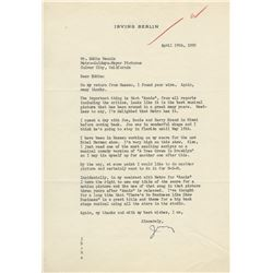 Collection of studio signed letters and correspondence including Irving Berlin to Eddie Mannix.