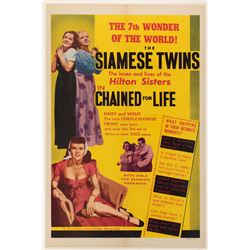 The Hilton Sisters one-sheet poster for Chained for Life.