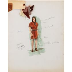 Prince Valiant (2) sketches 1-by Dorothy Jeakins and 1-by Jack Muhls for Charles LeMaire.