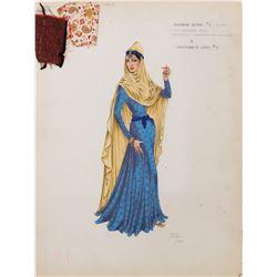 "Ralph Jester ""Harem Wife"" costume sketch from Omar Khayyam."