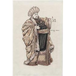 "Joseph Wiseman ""King Draco"" sketch by Jean-Pierre Dorleac for Buck Rogers in the 25th Century."