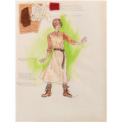 """Debbie Reynolds """"Molly"""" (11) costume sketches by Paco Macliss for The Unsinkable Molly Brown"""