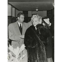 Marilyn Monroe and Joe DiMaggio candid photograph from the estate of Joe DiMaggio.