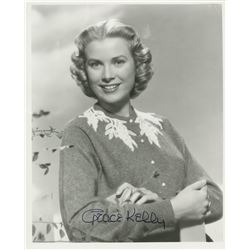 Grace Kelly signed photograph.
