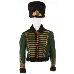 Austro-Hungarian Hussar jacket and fur hat from unidentified MGM films.