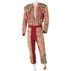 "Ricardo Montalban ""Mario Morales"" matador suit of lights from Fiesta."