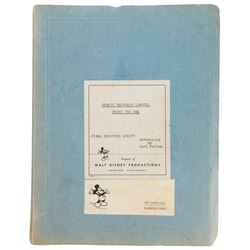 Harper Goff Final Shooting Script for 20,000 Leagues Under the Sea.