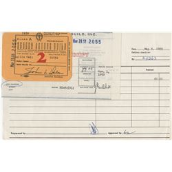 Lucille Ball Screen Actors Guild membership card for 1959.