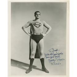 """George Reeves """"Superman"""" exceptional signed photograph."""