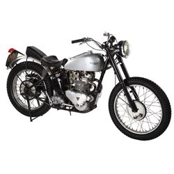 """Henry Winkler """"Arthur 'The Fonz' Fonzarelli"""" signature Triumph Trophy TR5 motorcycle from Happy Days"""