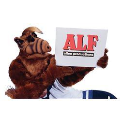 "Oversize ""ALF alien productions"" credit bumper artwork from ALF."