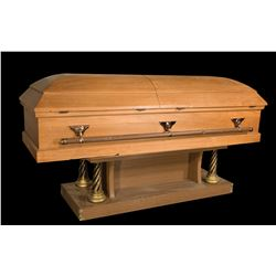 """Terry O'Quinn """"John Locke"""" casket from episode """"Through the Looking Glass"""" of LOST."""