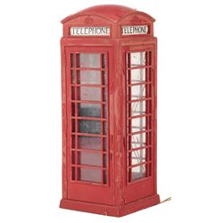 Miniature British phone booth from The Avengers.