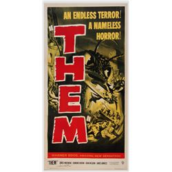 Frank Darabont personal three-sheet poster for Them! signed by James Whitmore.