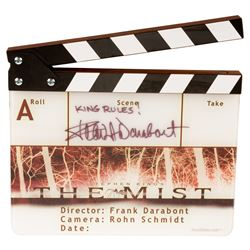 Frank Darabont personal signed clapperboard from The Mist.