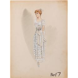 Striking designs (11) costume sketches by Yvonne Wood and others.