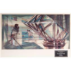 "Cleopatra ""Pharos Alexandria"" set design painting by John DeCuir."