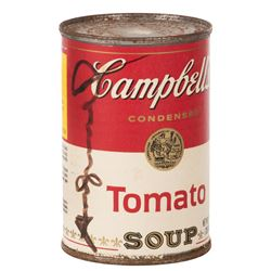 Andy Warhol signed iconic Campbell's Soup label.
