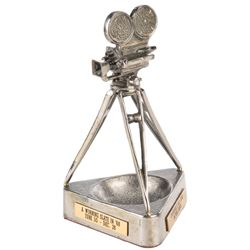Universal's All-Star Drive 1968 promotional camera ashtray/paperweight.