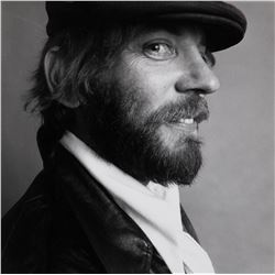 Donald Sutherland oversize portrait photograph by Lawrence Schiller.