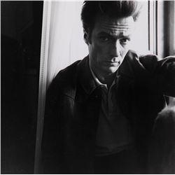 Clint Eastwood oversize portrait photograph by Lawrence Schiller.