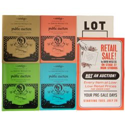 The legendary David Weisz MGM Auction (4) catalogs with supplements, poster, lot tags, and ephemera.