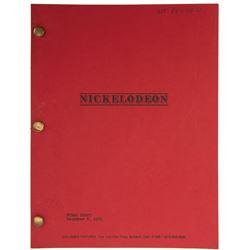 Nickelodeon Final Draft script.