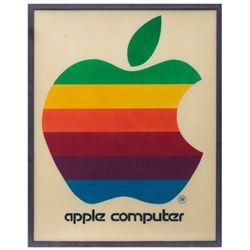 Early original Apple Computer, Inc. retail sign.