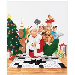 Joann Daley original promotional artwork for a Carroll O'Connor holiday special.