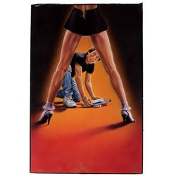 Joann Daley original VHS cover artwork for early Tom Cruise film Losin' It.