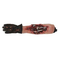 "Arnold Schwarzenegger ""Terminator"" prosthetic forearm, glove from Terminator 3: Rise of the Machines"